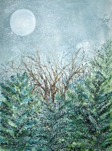 December Full Cold Moon by Rogin Samiljan