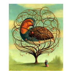 partridge in a pear tree with couple