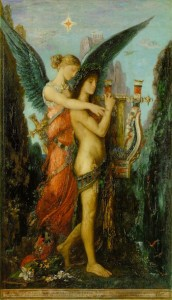 Hesiode et la Muse, Gustave Moreau